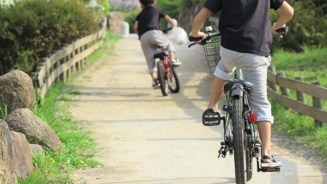 子供,自転車