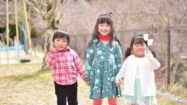 三姉弟,育児