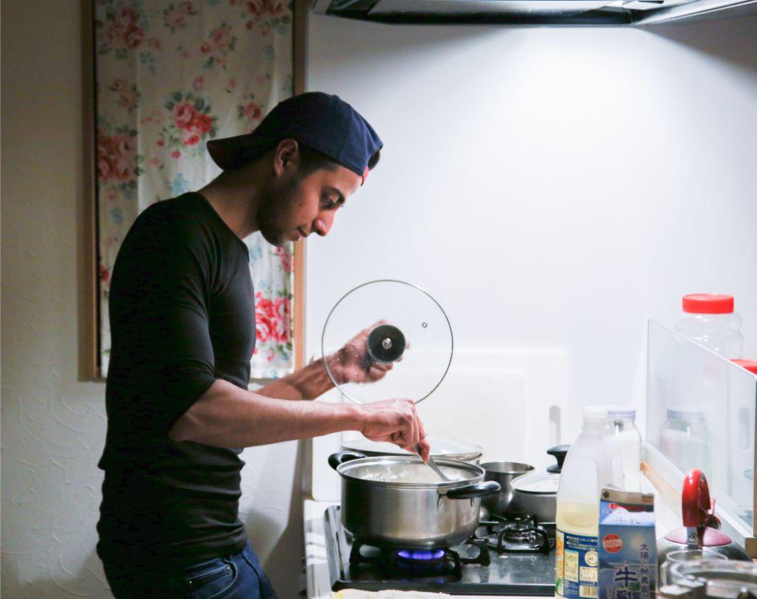 彼が手料理を作ってくれた