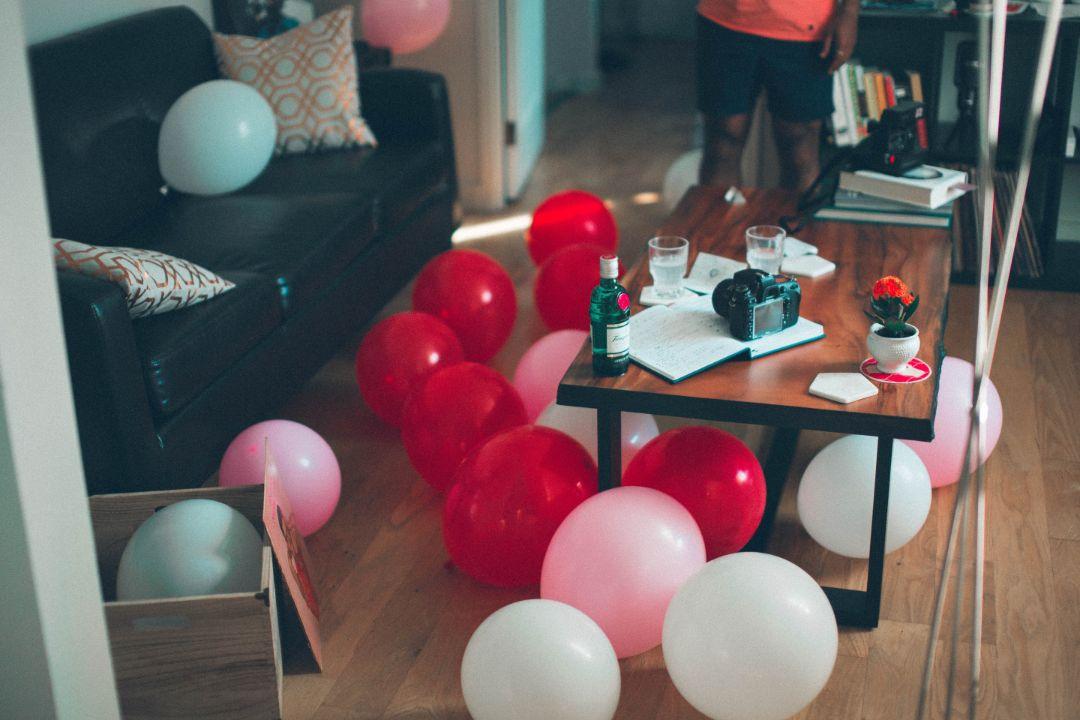 お部屋をデコレーションしてお祝いしてくれた