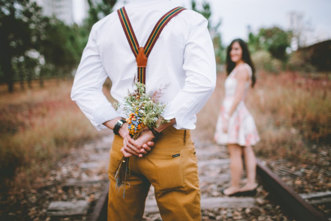 花束をくれたデート
