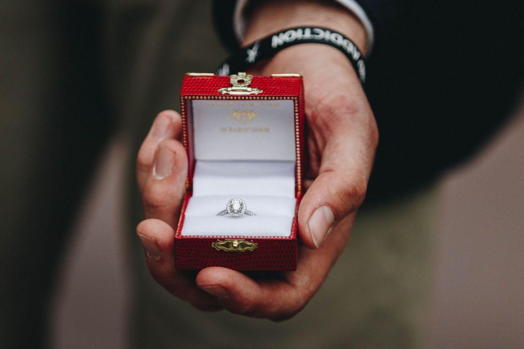指輪をもらった