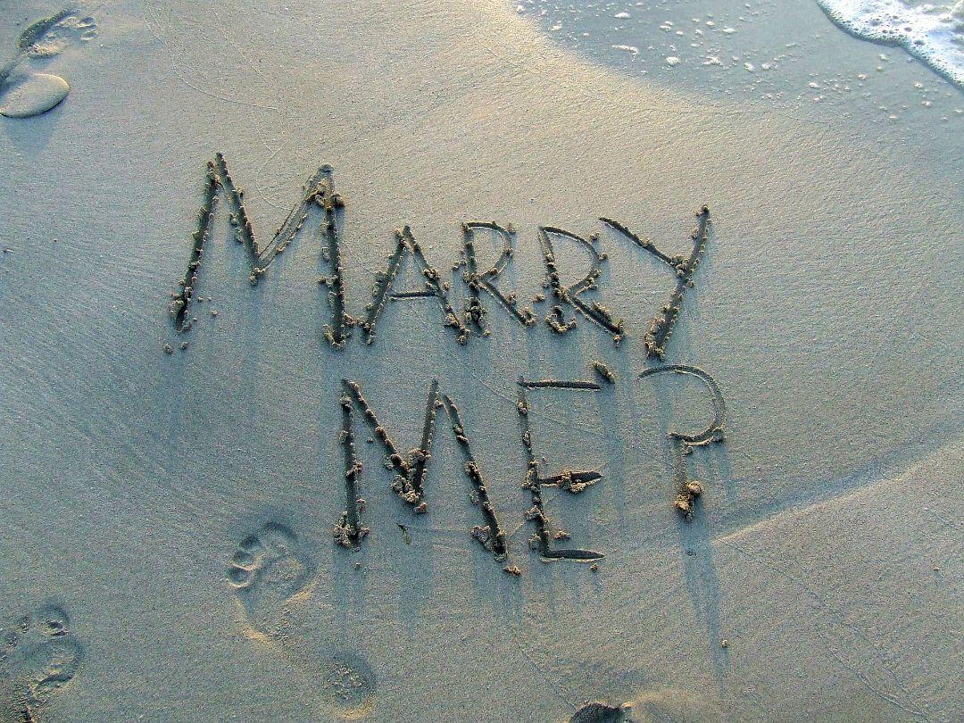 サプライズでプロポーズした