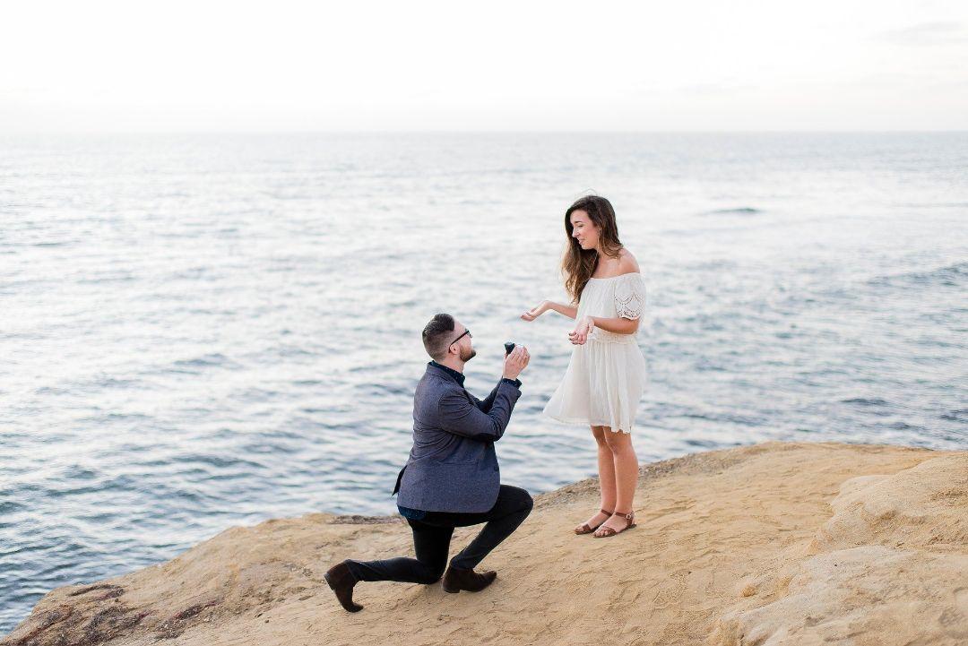 サプライズでプロポーズされた